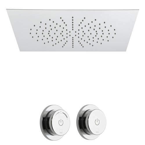 Vado Sensori SmartDial Thermostatic Shower With Square Head & Remote.