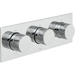 Vado Omika Thermostatic Shower Valve With 3 Outlets & All Flow (Chrome).