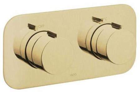 Vado Altitude 2 Outlet Thermostatic Shower Valve (Brushed Gold).