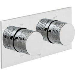 Vado Omika Thermostatic Shower Valve With 2 Outlets (Chrome).