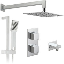 Vado Shower Packs Thermostatic Shower Set With 2 Outlets (Chrome).