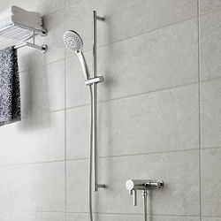 Vado Shower Packs Exposed Thermostatic Shower Valve & Rail Kit.