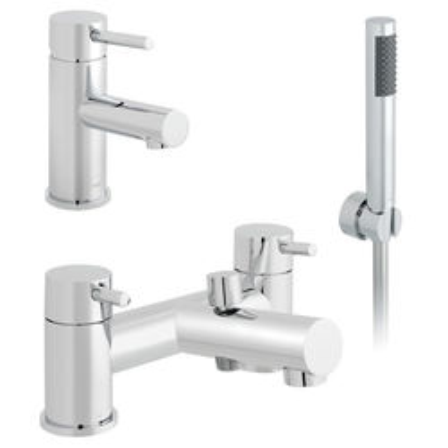 Vado Zoo Basin & Bath Shower Mixer Tap Pack (Chrome).