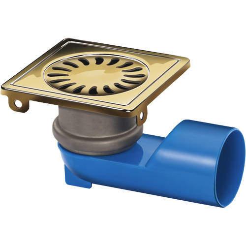 VDB Shower Drains Square Shower Drain 100x100mm (Brass).