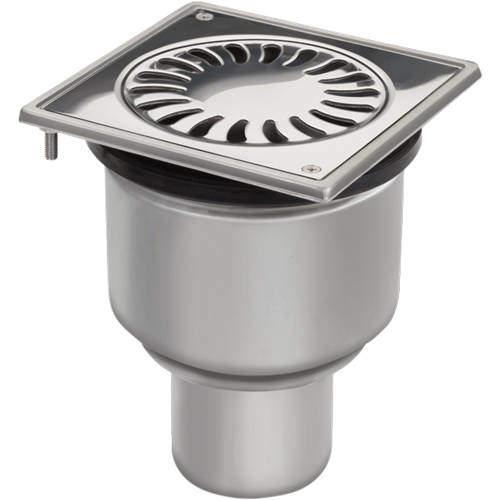 VDB Shower Drains Shower Drain 150x150mm (Stainless Steel).