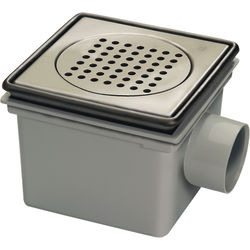 VDB Bucket Drains ABS Drain 200x200mm (S Steel Frame & Grate).