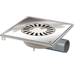 VDB Shower Drains ABS Shower Drain 200x200mm (Screw Down Grate).