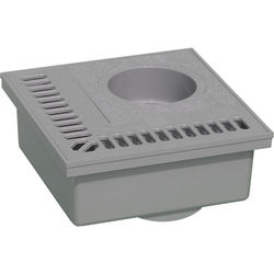 VDB Balcony PVC Drain With Vertical Outlet (200x200mm).