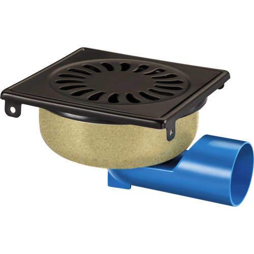 VDB Shower Drains Shower Drain 150x150mm (Black Stainless Steel).