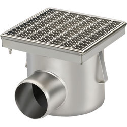VDB Industrial Drains Drain With 110mm Horizontal Out 250x250mm (Mesh).