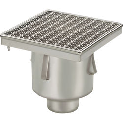 VDB Industrial Drains Drain With 110mm Vertical Outlet 300x300mm (Mesh).
