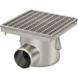 VDB Industrial Drains Drain With Horizontal Outlet 300x300mm (Mesh).