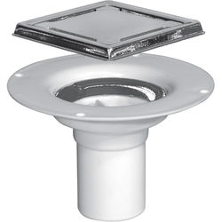VDB Shower Drains Poly Shower Drain With Clamping Ring 94x94mm.