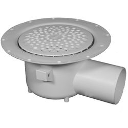 VDB Vinyl Drains Shower Drain With 75mm Horizontal Outlet (150mm, PEH).