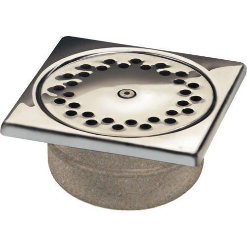 VDB Shower Drains Anti Vandal Shower Drain 150x150mm (S Steel).