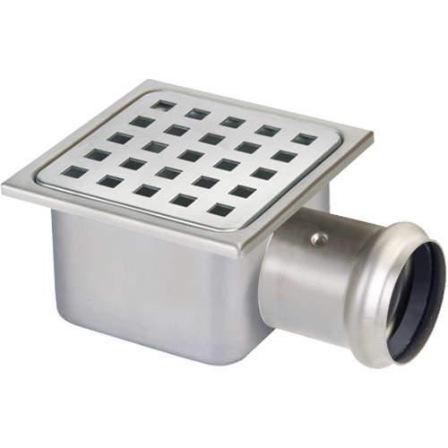 VDB Shower Drains Shower Drain 100x100mm (Stainless Steel).