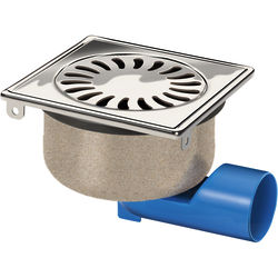 VDB Shower Drains Shower Drain 150x150mm (Stainless Steel).