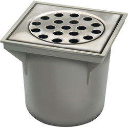 VDB Bucket Drains ABS Drain 200x200mm (Brushed Stainless Steel Grate).