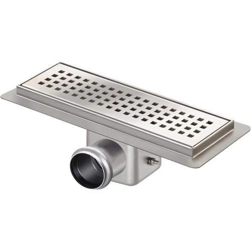 VDB Channel Drains Standard Shower Channel 400x100mm (S Steel).