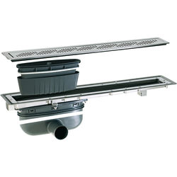 VDB Vinyl Drains Shower Channel Drain (700x100mm, Stainless Steel Grating).