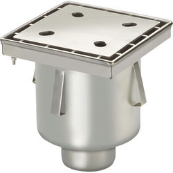 VDB Industrial Drains Screw Down Drain With Vertical Outlet 250x250mm.