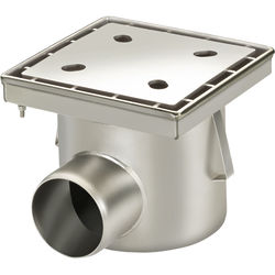 VDB Industrial Drains Drain With 110mm Horizontal Outlet 250x250.