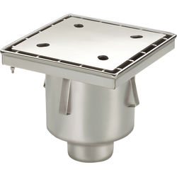 VDB Industrial Drains Screw Down Drain With Vertical Outlet 300x300mm.