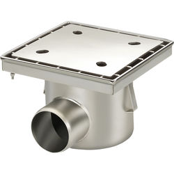 VDB Industrial Drains Drain With 110mm Horizontal Outlet 300x300.