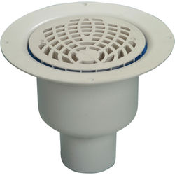 VDB Vinyl Drains Shower Drain With 75mm Vertical Outlet (150mm, PEH).