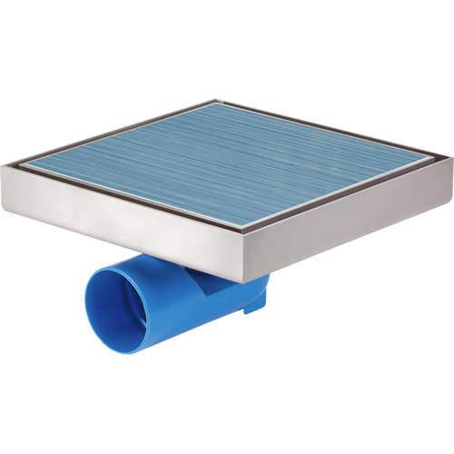 VDB Tile Drains Shower Tile Drain 196x196mm (Stainless Steel).
