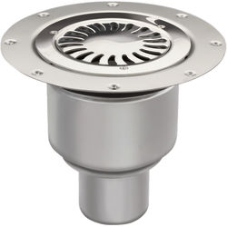 VDB Vinyl Drains Shower Drain With 75mm Vertical Outlet (250mm, S Steel).