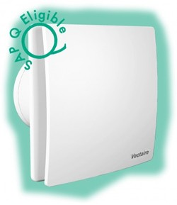 Vectaire Elegance Low Voltage Extractor Fan With Timer Or Cord (White).
