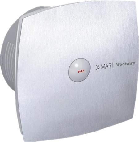 Vectaire X-Mart Auto Extractor Fan, Humidistat, Timer. 100mm (Steel Finish).