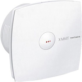 Vectaire X-Mart Auto Extractor Fan With Timer. 100mm (White).