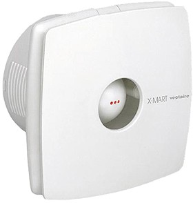 Vectaire X-Mart Timer Extractor Fan. 100mm (White).