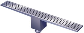 Waterworld Rectangular Wetroom Shower Drain, Bottom Outlet. 1400mm.