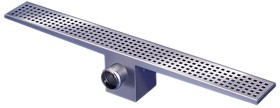 Waterworld Rectangular Wetroom Shower Drain With Side Outlet. 1800mm.