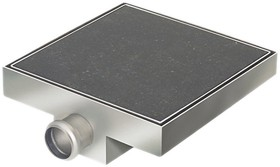 Waterworld Stainless Steel Wetroom Tile Gully With Side Outlet. 100mm.