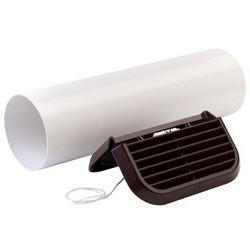Xpelair Simply Silent Easy Fit Extractor Fan Wall Kit With Brown Grill (100mm).