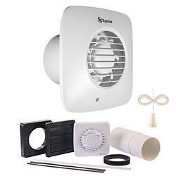 Xpelair Simply Silent Extractor Fan, Humidistat, Timer & Pullcord (100mm).