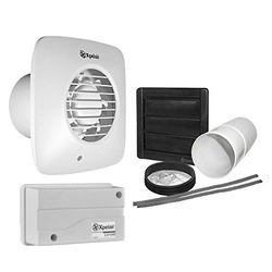 Xpelair Simply Silent 12v Extractor Fan With Timer, Humidistat & Kit (100mm).