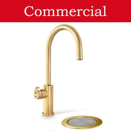 Zip Arc Design Filtered Boiling & Chilled Tap & Font (41 - 60 People, Brushed Gold).