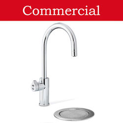 Zip Arc Design Filtered Boiling Water Tap & Font (41 - 60 People, Bright Chrome).