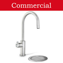 Zip Arc Design Filtered Boiling Water Tap & Font (41 - 60 People, Brushed Nickel).