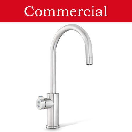Zip Arc Design Filtered Boiling Water Tap (61 - 100 People, Brushed Nickel).