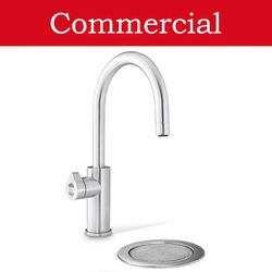 Zip Arc Design Filtered Boiling Water Tap & Font (61 - 100 People, Brushed Chrome).