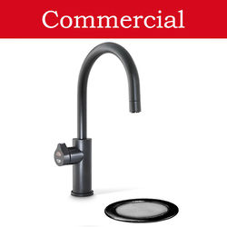 Zip Arc Design Filtered Boiling Water Tap & Font (61 - 100 People, Matt Black).
