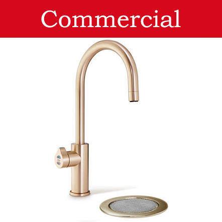 Zip Arc Design Filtered Boiling Water Tap & Font (61 - 100 People, Brushed Rose Gold).