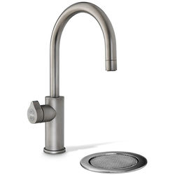 Zip Arc Design Boiling, Chilled & Sparkling Tap With Font (Gunmetal).