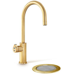 Zip Arc Design Boiling & Chilled Water Tap With Font (Brushed Gold).